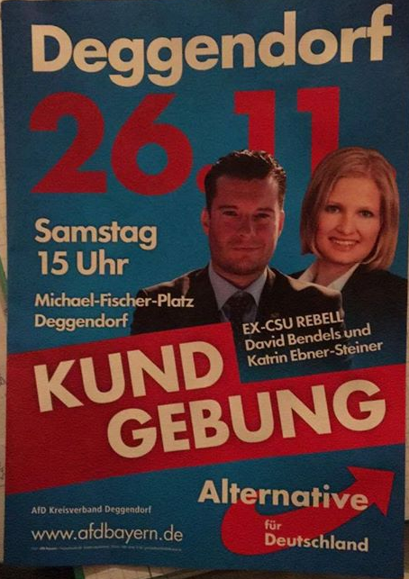 Flyer zur AfD-Demo